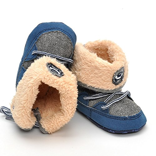 Infant Warm Winter Boots Navy US 4