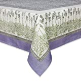Couleur Nature 59-inches by 59-inches Lavender Tablecloth, Purple