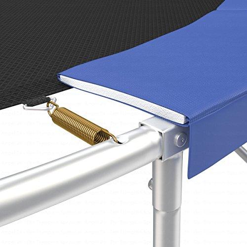 Ampel 24 Trampolin Randabdeckung | reißfest | 100% UV-beständig | blau | passend für Ø 305 cm -