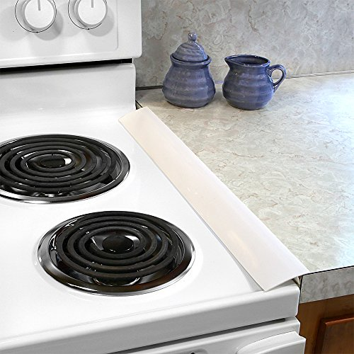 silicone stove counter gap covers white 2 pack business industrial food service food washers. Black Bedroom Furniture Sets. Home Design Ideas
