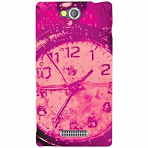 Sony Xperia C Back Cover - Pink Designer Cases