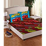 Disney- Athom Trendz- Cars Double Bed Sheet Set- Red
