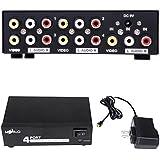 HDE 4 RCA output 1 RCA input Audio Video Splitter