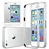 MOKO【全5色】【 iPhone 5 / 5s 】 超薄型アルミバンパーケース 0.7MM Metal Bumper iPhone用ケース バンパーケース/カバー (iphone5/5s, シルバー)