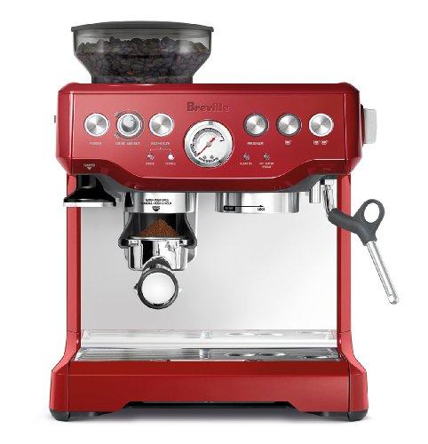 Breville BES870CBXL The Barista Express Coffee Machine, Cranberry Red (Red Espresso Machine compare prices)