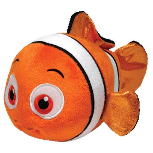 Ty Beanie Buddies Nemo Fish Sparkle Medium Plush