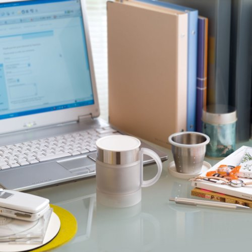 THERMOS vacuum insulation office mug 0.24L lychee white JCQ-240 LCW (japan import) отпусти меня