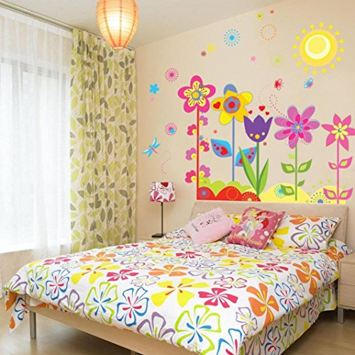 Ussore-Wall-Sticker-Flower-Butterfly-Removable-Vinyl-Decal-Art-For-Kids-Home-Living-Room-House-Bedroom-Bathroom-Kitchen-Office-Home-Decoration