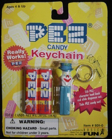 Pez Candy Clown Keychain New On Card