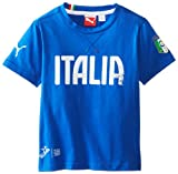 PUMA Little Boys' FIGC Italia Graphic T-Shirt, Teampower Blue, 6