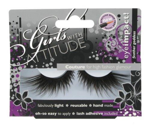 Girls with Attitude Feather Goddess Eye Lashes Set