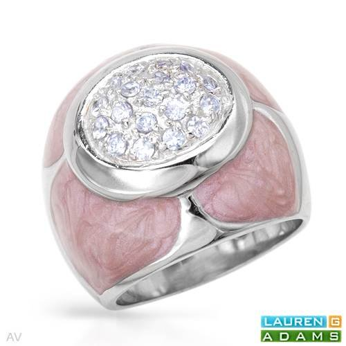 Lauren G. Adams Sterling Silver 1 CTW Cubic Zirconia Ladies Ring. Ring Size 7. Total Item weight 13.3 g.
