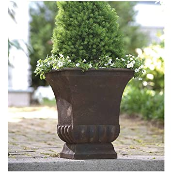 Rustic Metal Urn Large Urn Planter
