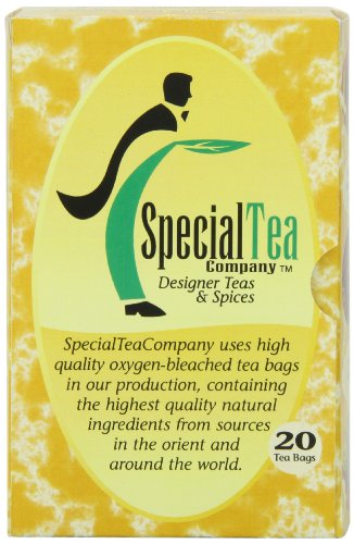 Special Tea Gourmet Green Tea Bags, Earl Grey, 20 Count