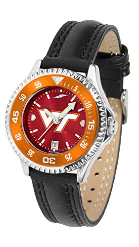Virginia Tech Hokies Womens Anochrome Competitor Color Bezel Sports Watch