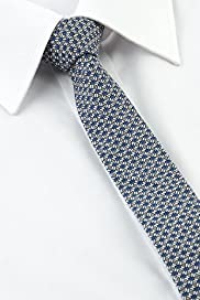 Autograph Pure Cotton Textured Skinny Tie