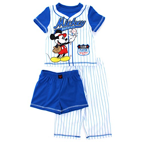 Mickey Mouse Toddler Blue 3 pc Poly Pajamas Set