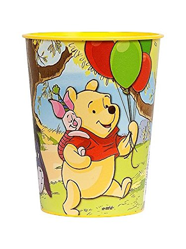 Pooh Plastic Party Cup (each) - 1