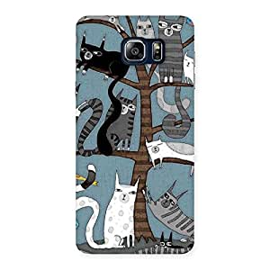 Ajay Enterprises Powerful Cat On Trees Print Back Case Cover for Galaxy Note 5