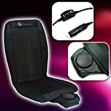 Zone Tech Cooling Car Seat Cushion - 2-Pack Black 12V Automotive Adjustable Temperature Comfortable Cooling Car Seat Cushion