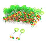 100 Pieces 5mm x 1.5mm Colorful Float Floater Beads Fishing Bobber Stopper