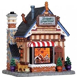 Bridgette's Gingerbread Bakery Lighted Porcelain Christmas Village Building
