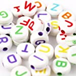 500pk Colorful Mixed Alphabet Beads