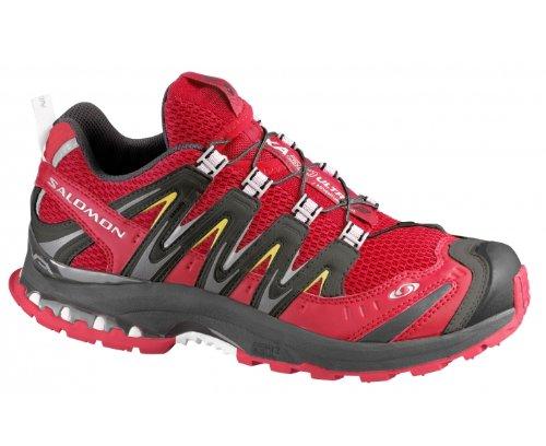 SALOMON XA Pro 3D Ultra 2 Ladies Trail Running Shoes, Red/Black, UK7