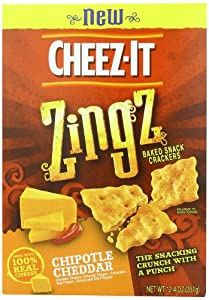Cheez-It Zingz Wafer Chipotle, Cheddar, 12.4 Ounce