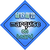Baby Boy Marquise on board novelty car sign gift / present for new child / newborn baby