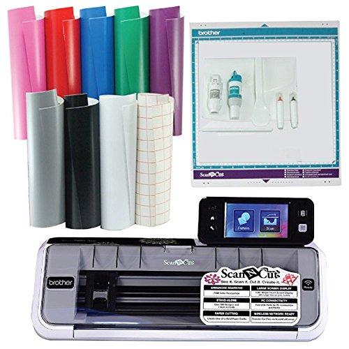 Brother Scan N Cut CM350 With 8 Sheets of Vinyl and 2 Sheets Transfer Paper (Brothers Scan And Cut Machine compare prices)