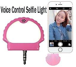 Selfie Light YEYIZU® Voice Control Selfie Light Phone Accessories Mobile Phone Makeup Night Using Selfie Enhancing Flash Light (Pink)