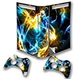 Abstract 10036, Snuggle Edition, Sticker for XBOX 360 Fat Game Console.