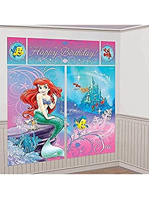 Little Mermaid Scene Setter Ariel Wall Decoration Party Supplies Birthday Girl