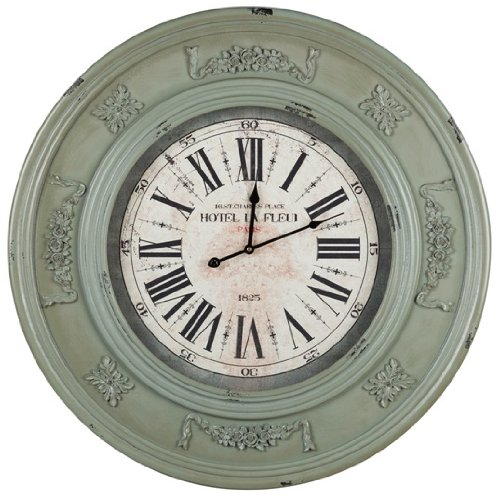 Distressed Sage Wall Clock