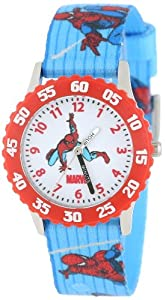 Marvel Comics Kids' W000107 Spider-Man Stainless Steel Time Teacher Watch