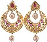 Violet & Purple Gold Plated Dangle & Drop Earrings For Women (1000031084)