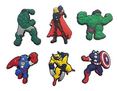 Avengers Fridge Magnets 6 Pcs Set #1 by Atlantis USA (Marvel Magnets compare prices)