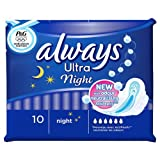 Always Ultra Pads Night x 10 Pads (Pack of 4)