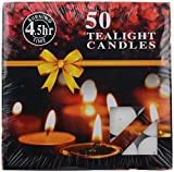 VSC Wax Floating Tea Light Candle (19.5 x 3 x 19.5 cm, White, 10 g)