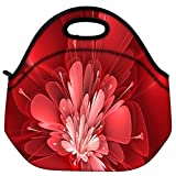 Snoogg Fractal Flower Digital Art Travel Outdoor Carry Lunch Bag Picnic Tote Box Container Zip Out Removable Carry Lunchbox Handle Tote Lunch Bag Food Bag For School Work Office