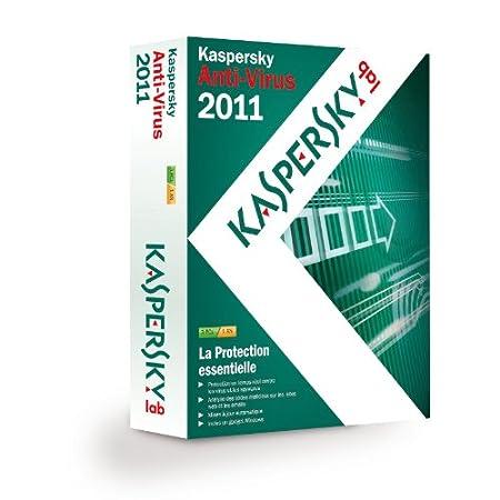 Kaspersky antivirus 2011 (3 postes, 1 an)