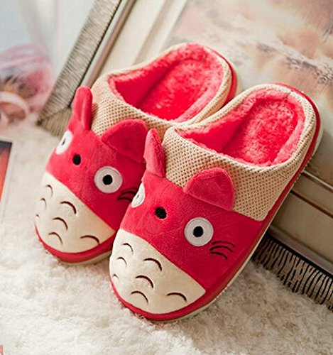 My Neighbor Totoro Anime Cartoon Slippers Autumn and winter thick home warm cotton slippers /plush slippers /Anti-skid Home House Slippers Fashion Travel Couples gift Slippers/Slippers