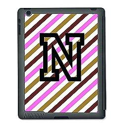 Skin4gadgets Neapolitan Ice Cream Colour Stripes 3 name Alphabet N Tablet Designer SMART CASE for IPAD 4