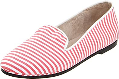 French Sole FS/NY Women's Drama,Red/White Canvas,8 M US