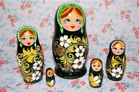 Five pairs Matryoshka (Hofuroma pattern of green) [Matryoshka] (japan import)