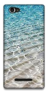 The Racoon Lean Crystal Sea hard plastic printed back case / cover for Sony Xperia M