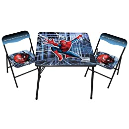Spider-Man Youth-Sized Folding Table and Chairs