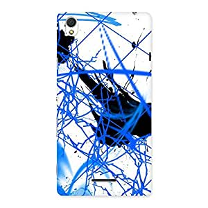 Gorgeous Blue Splasher Print Back Case Cover for Sony Xperia T3