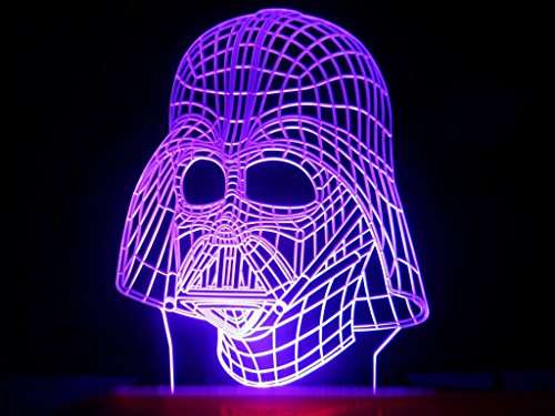 3D Star Wars Darth Vader Led Light Table Lamp Night Light Kids Room Bedroom Gift front-388741